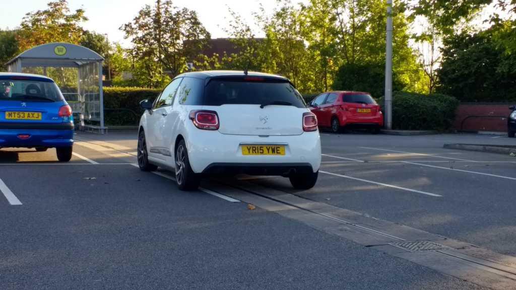 YR15 YWE displaying Inconsiderate Parking
