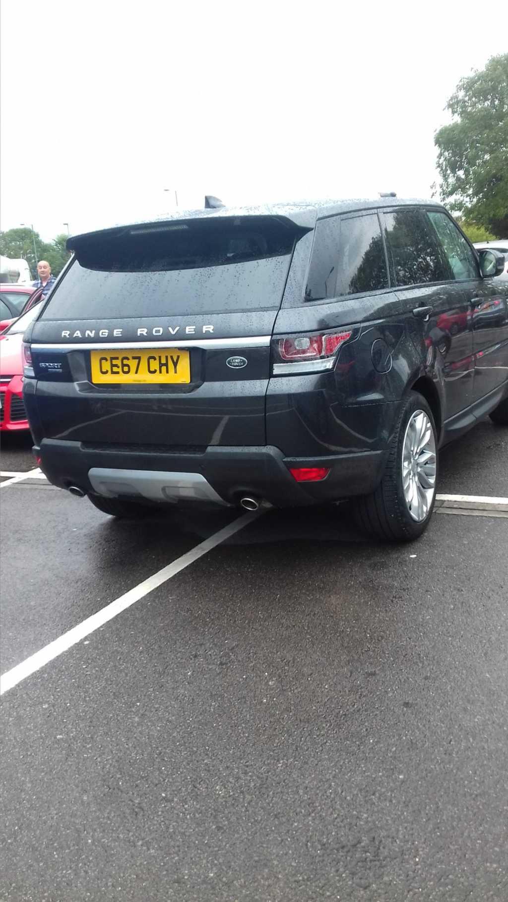 CE67 CHY displaying Selfish Parking