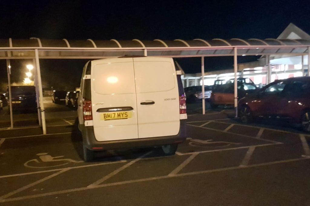 BM17 MYS displaying Inconsiderate Parking