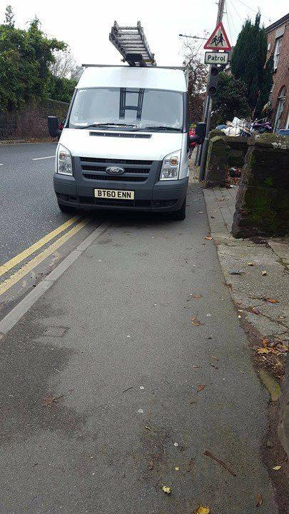 BT60 ENN displaying Inconsiderate Parking