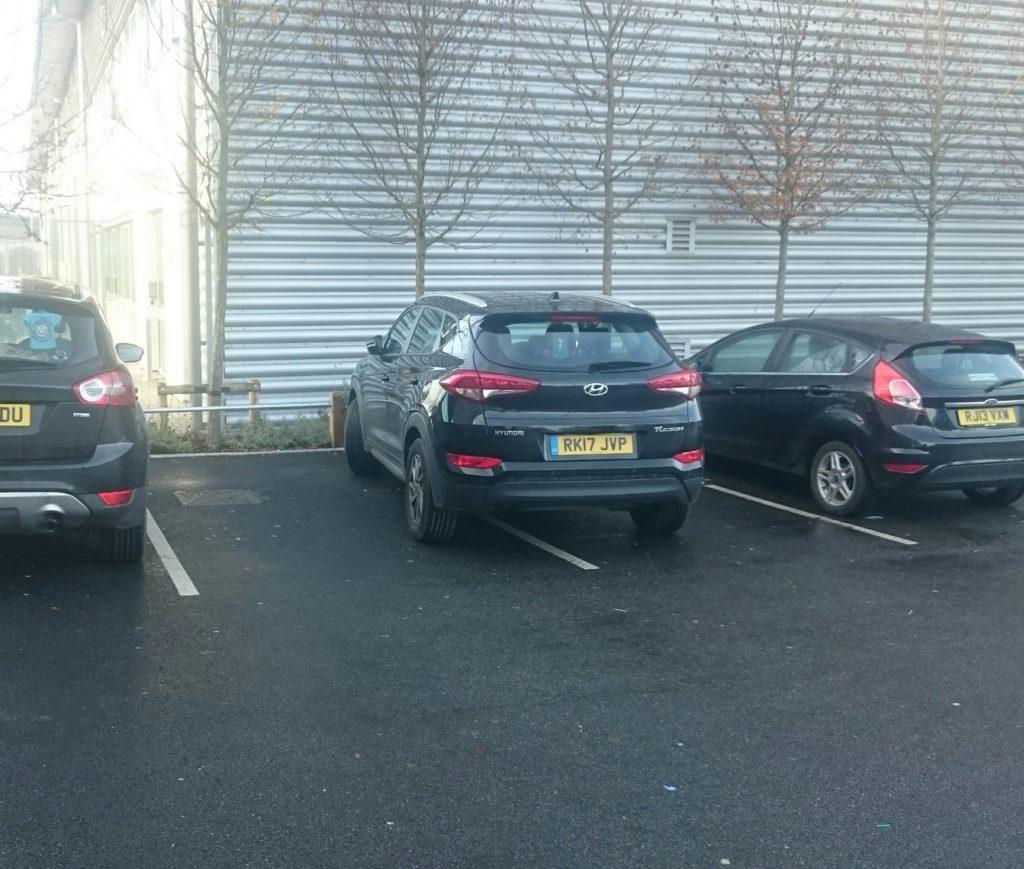 RK17 JVP displaying Selfish Parking