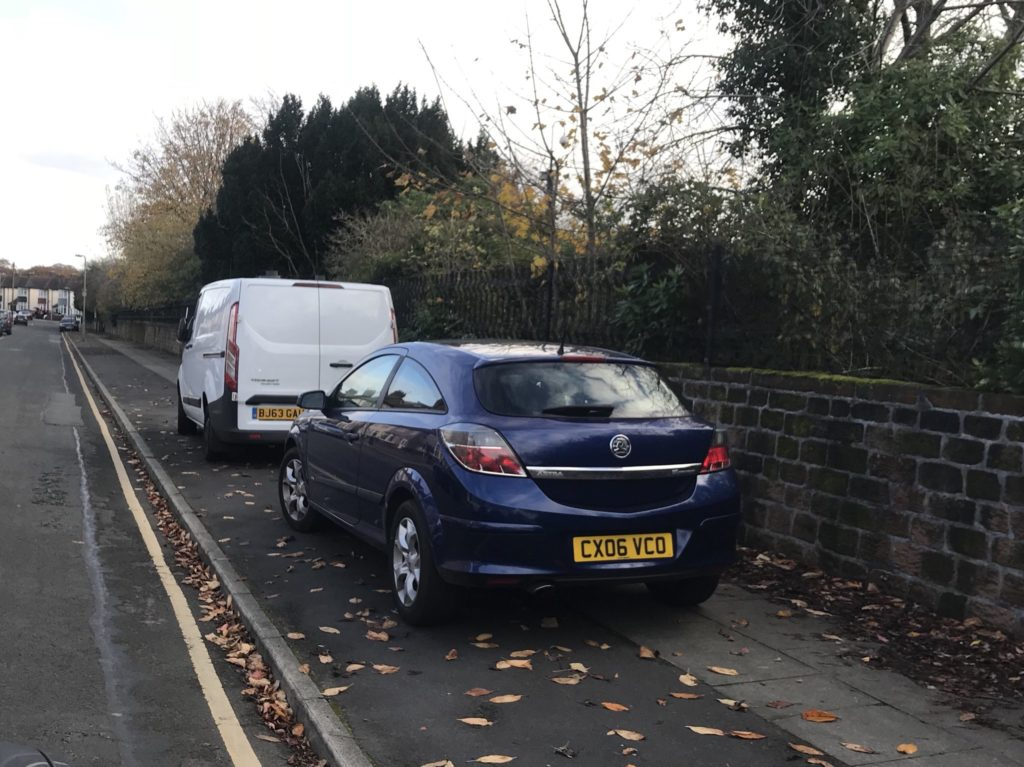 CX06 VCO displaying Inconsiderate Parking