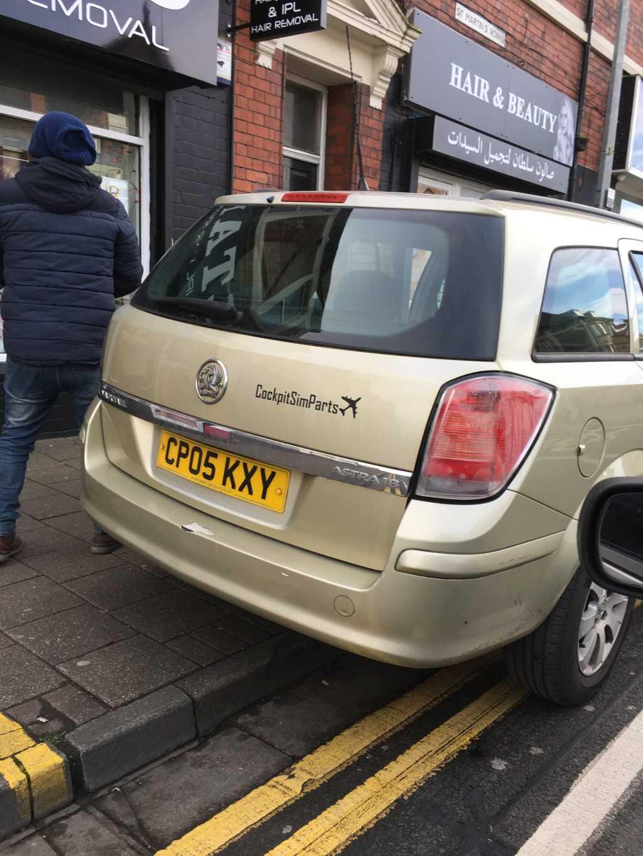 CP05 KXY displaying Selfish Parking