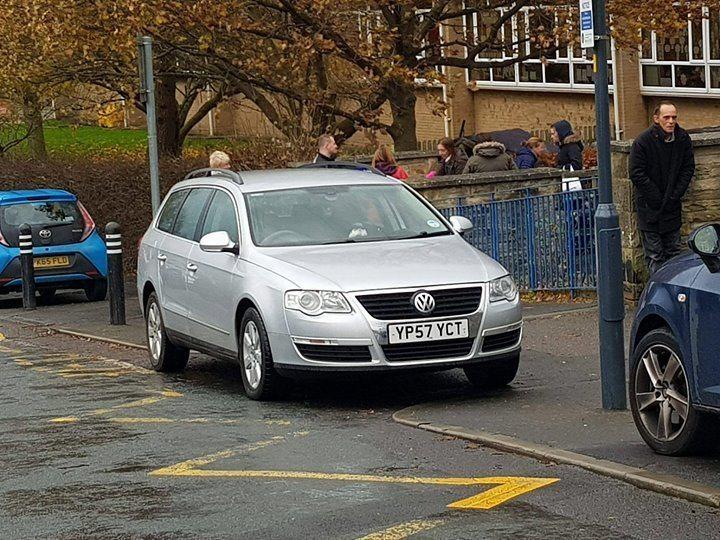 YP57 YCT displaying Selfish Parking
