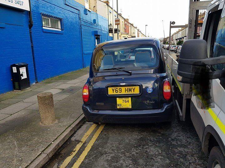 Y69 HMY displaying Selfish Parking