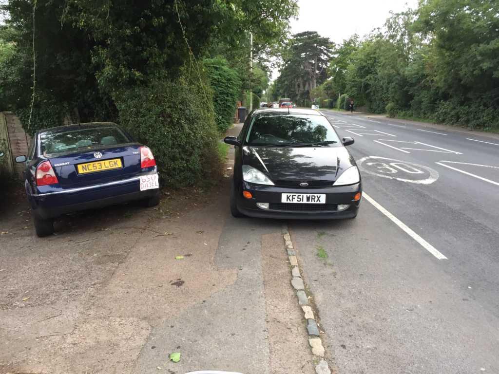 KF51 WRX displaying Selfish Parking