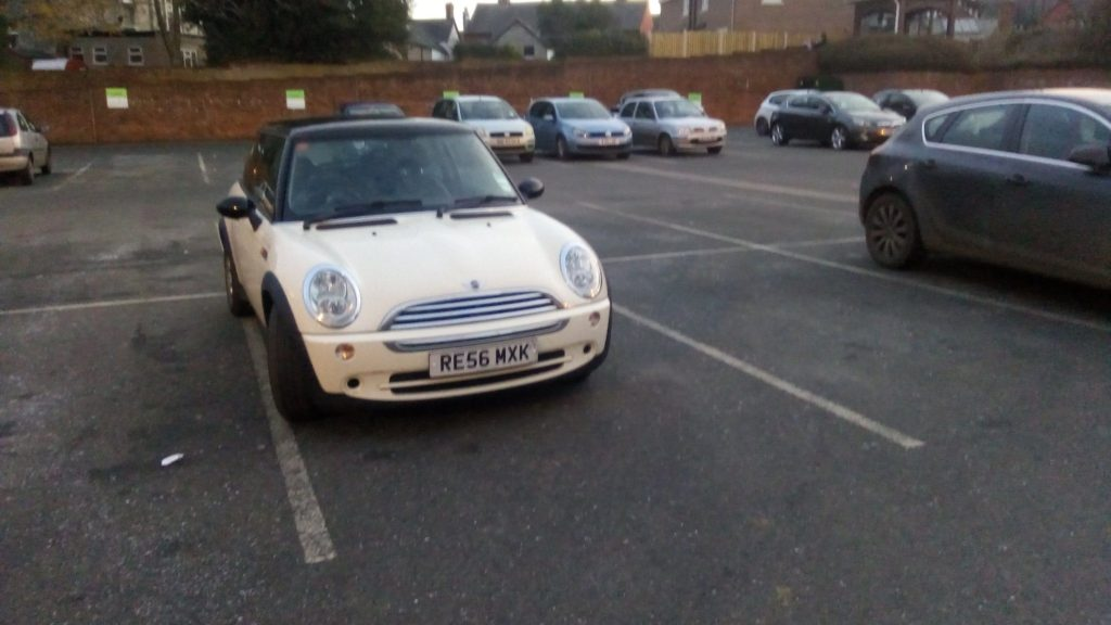 RE56 MXK is an Inconsiderate Parker