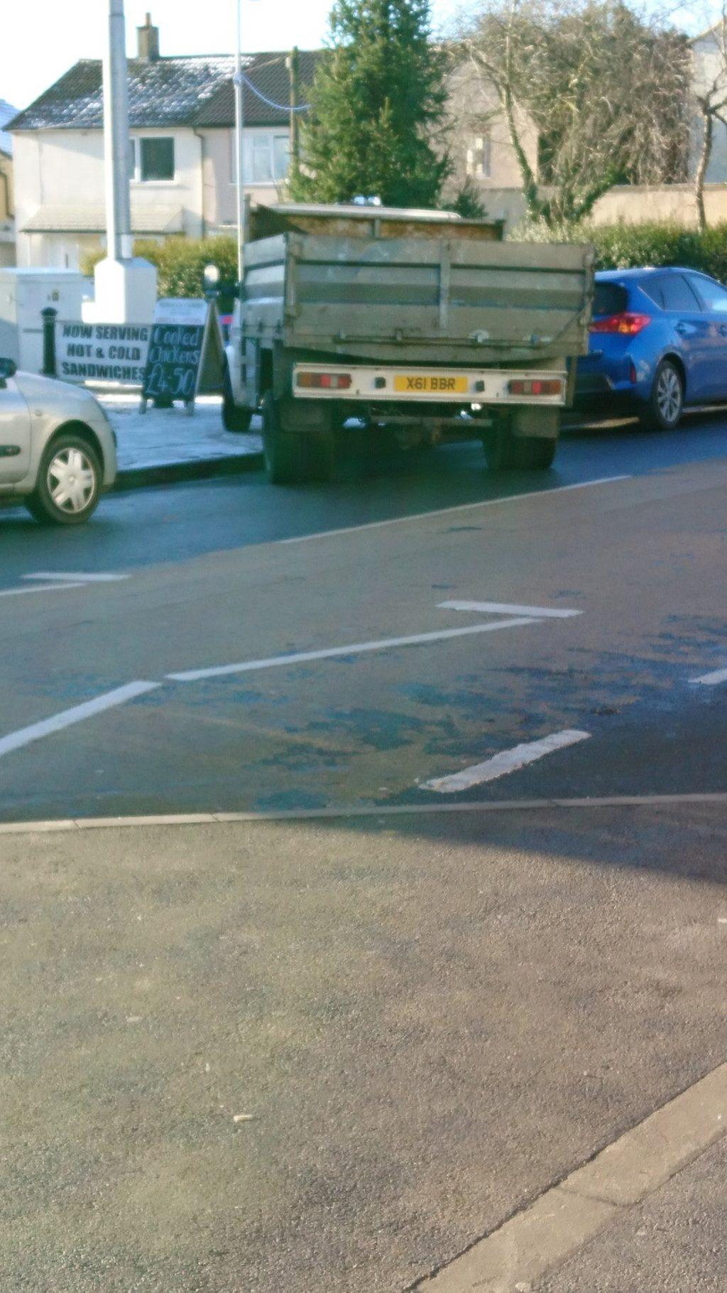 X61 BBR displaying Selfish Parking