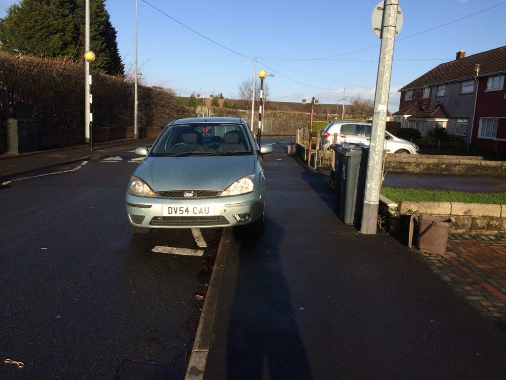 DV54 CAU displaying Selfish Parking
