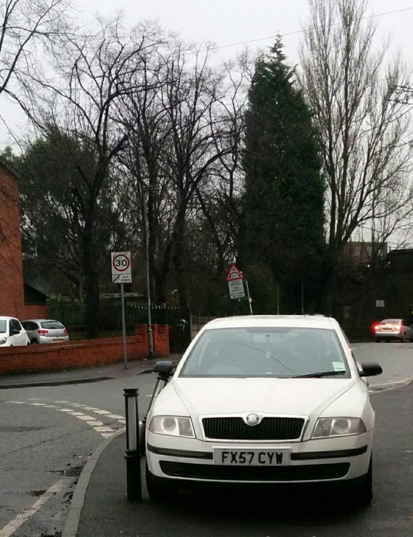 FX57 CYW displaying Selfish Parking