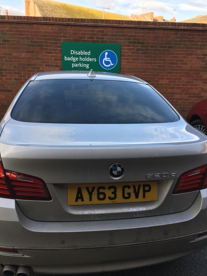 AY63 GVP displaying crap parking