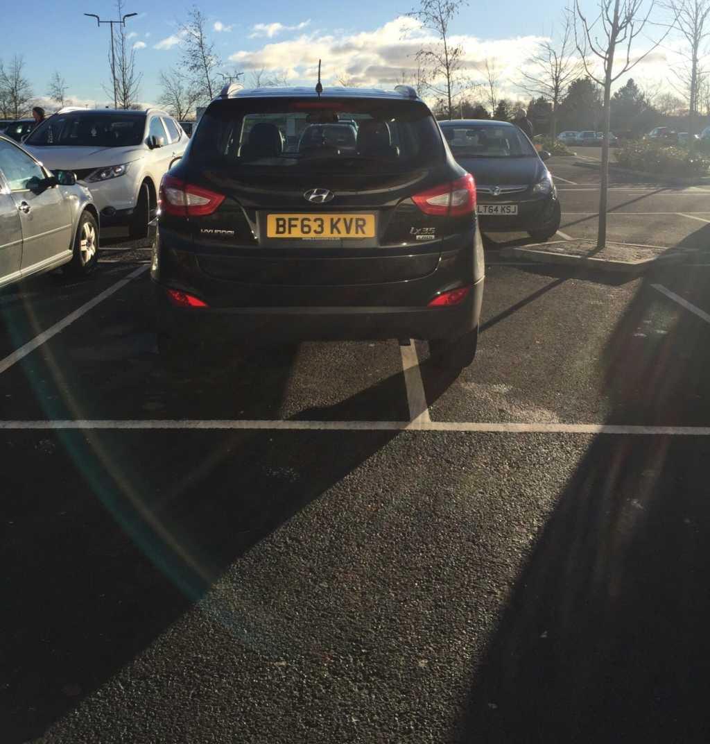 BF63 VKR displaying Selfish Parking