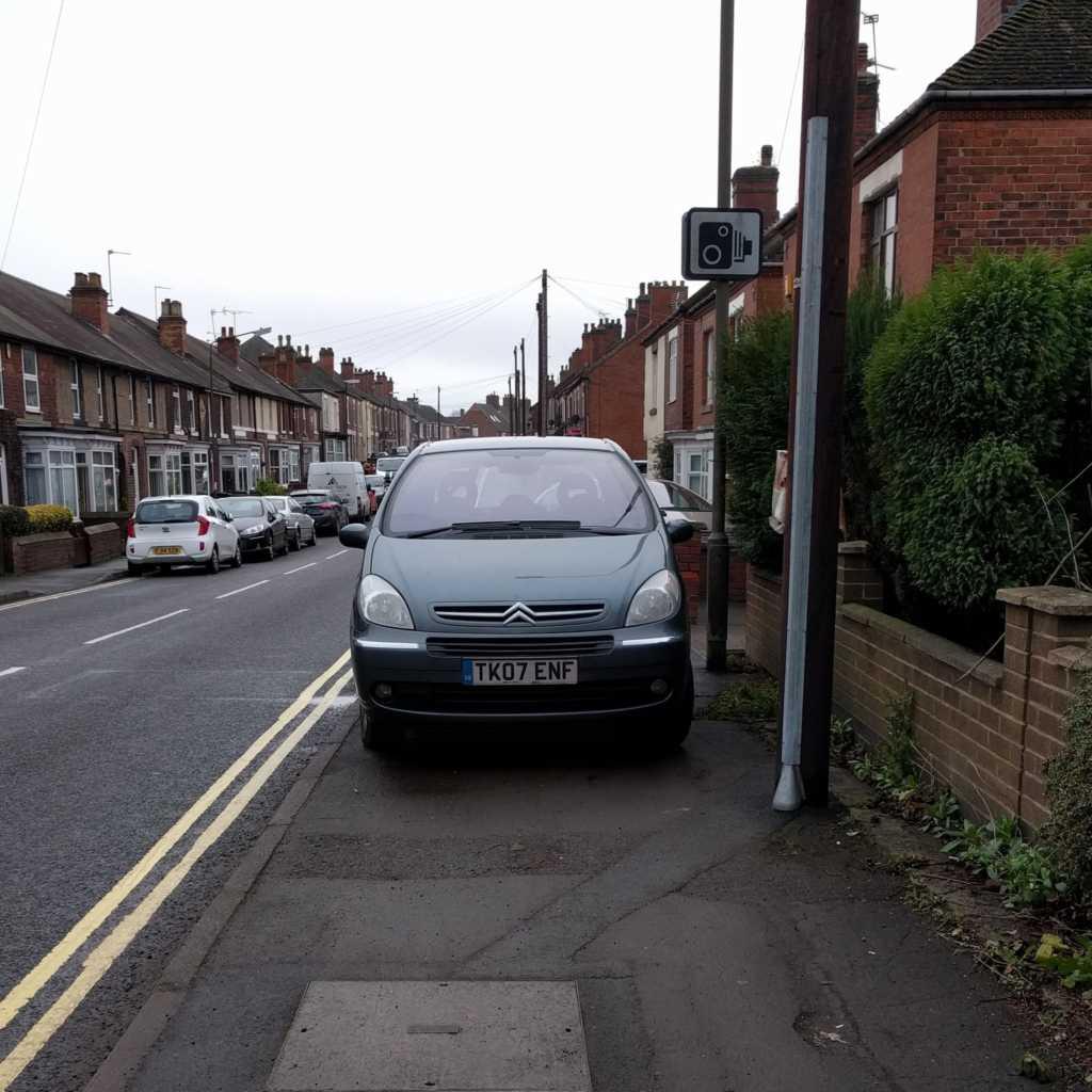 K07 ENF displaying Selfish Parking