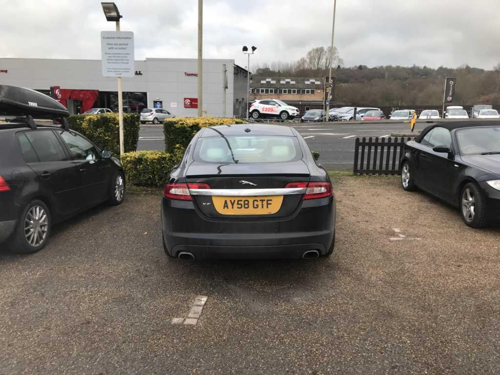 AY58 GTF displaying Inconsiderate Parking