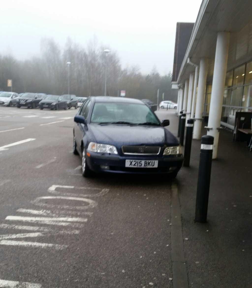 X215 BKU displaying crap parking
