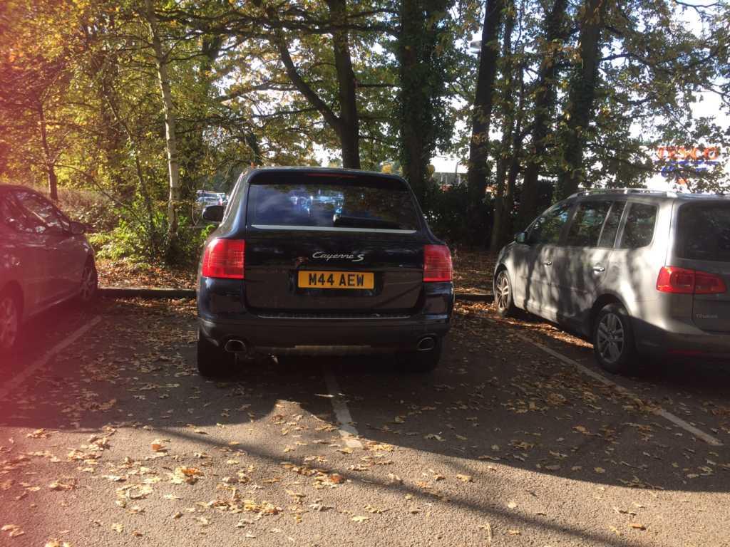 M44 AEW displaying Selfish Parking
