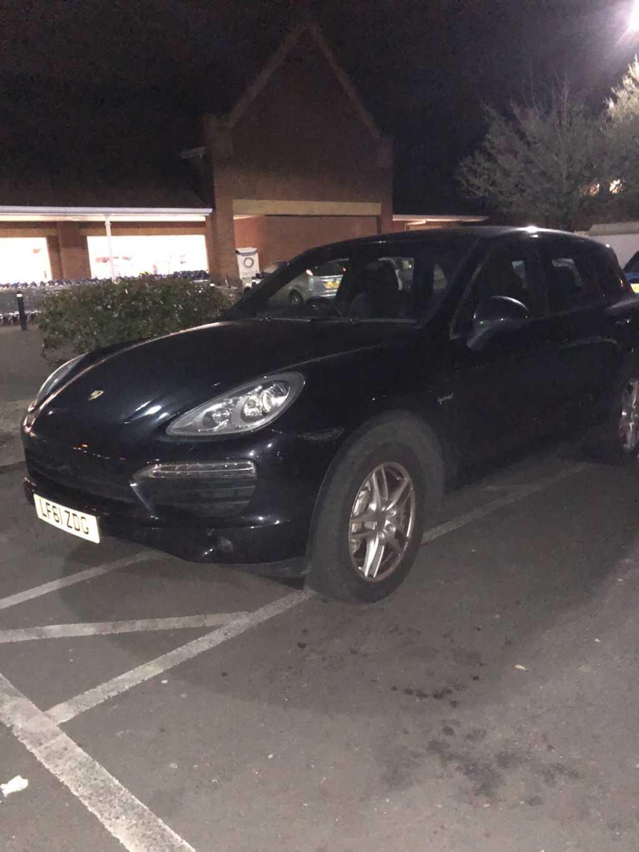 LF61 ZDG displaying Selfish Parking