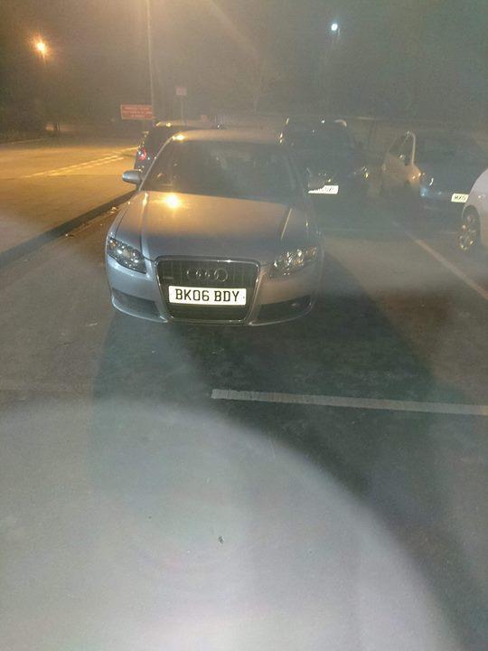 BK06 BDY displaying crap parking