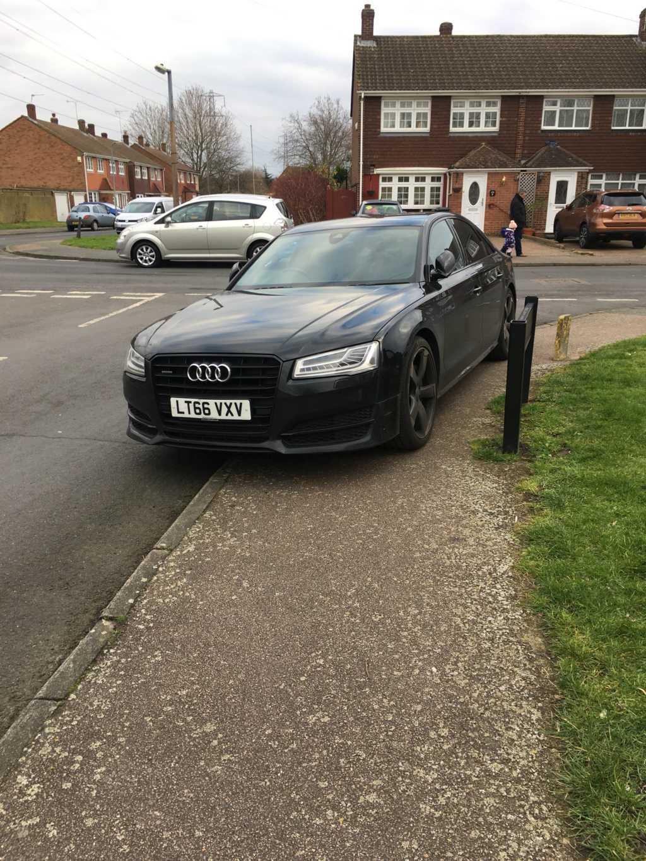 LT66 VXV displaying Selfish Parking