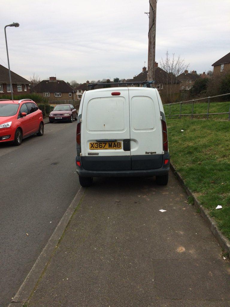 X367 MAB displaying Selfish Parking