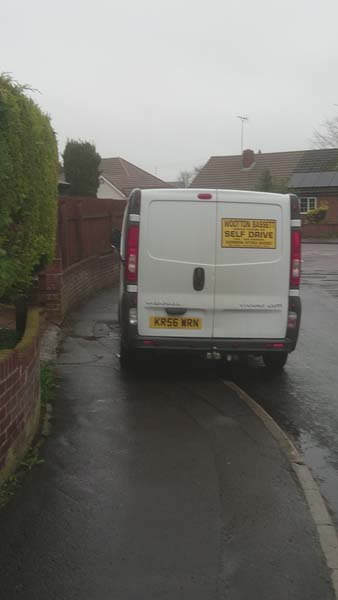 KR56 WRN displaying Inconsiderate Parking