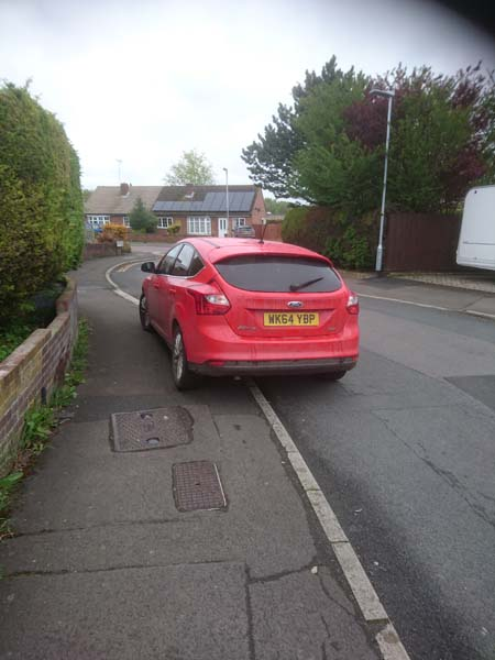 WK64 YPB displaying Selfish Parking