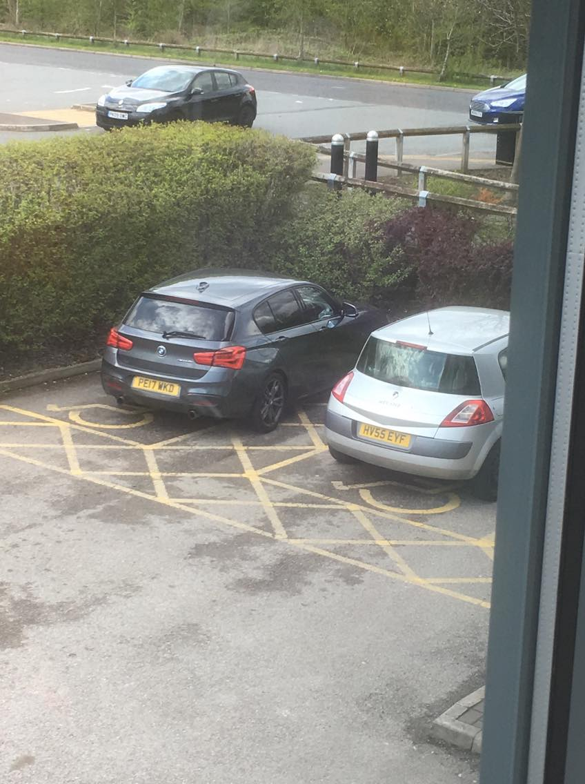 PE17 WKD is an Inconsiderate Parker