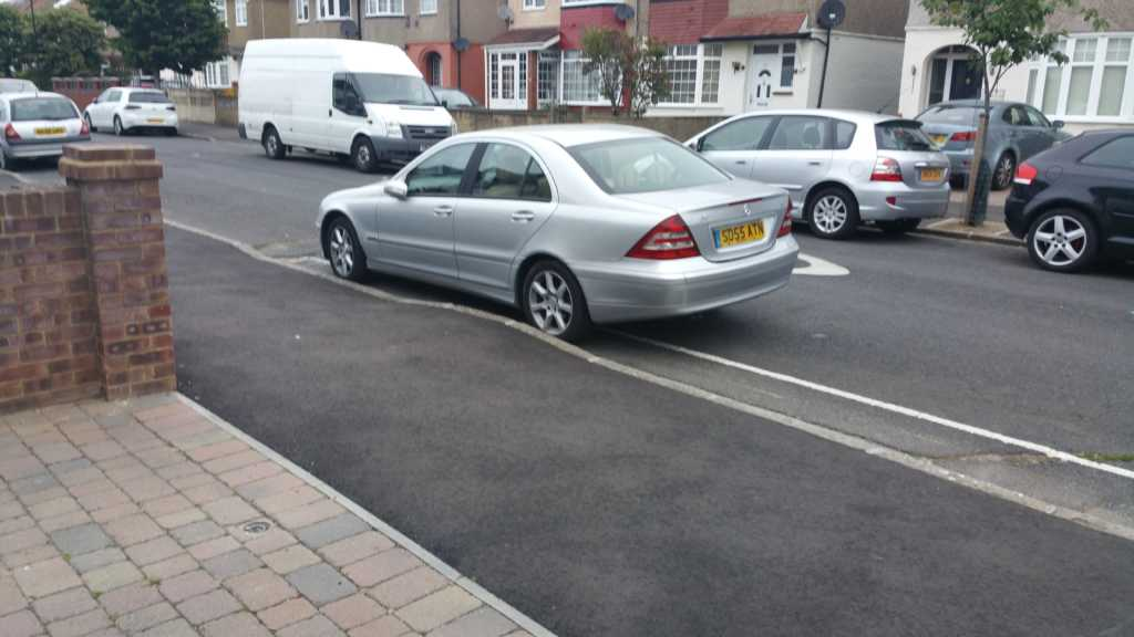 SO55ATN displaying Selfish Parking