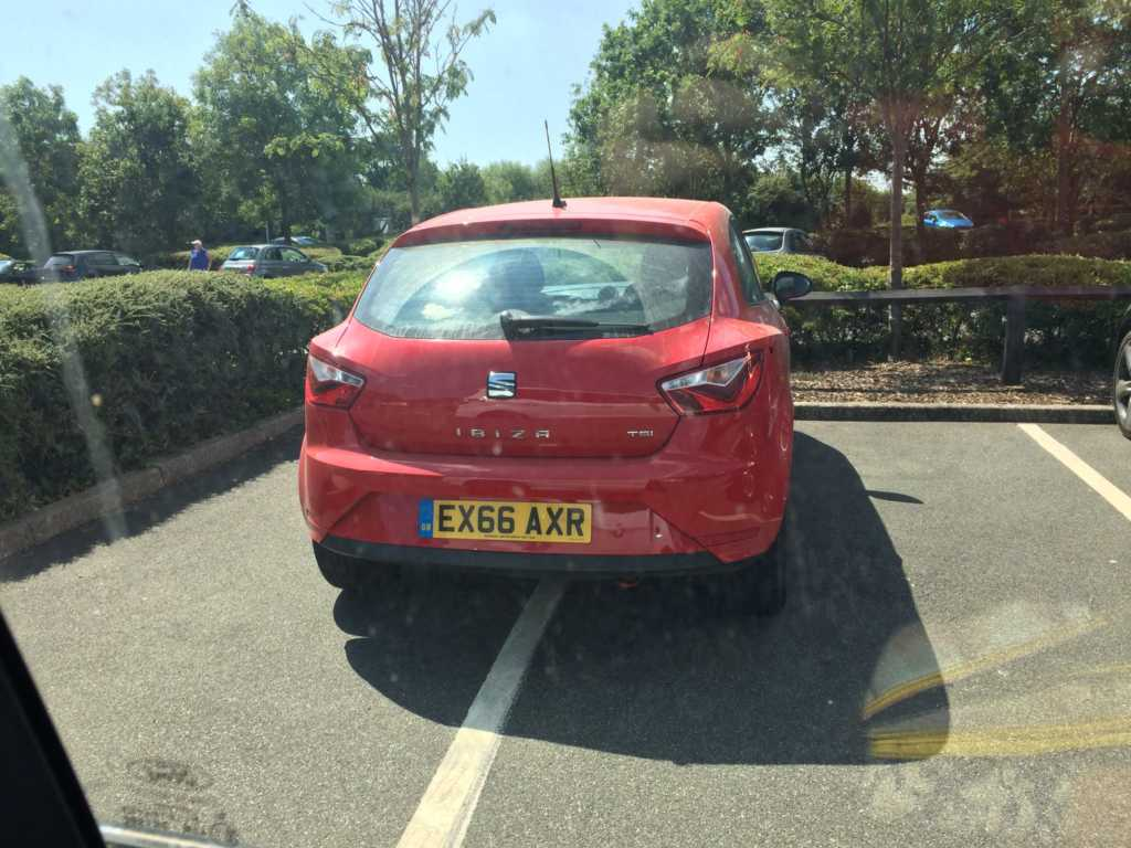 REG NOT ADDED displaying Inconsiderate Parking