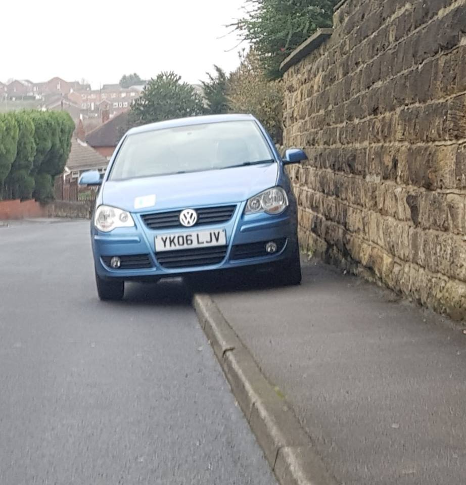 YK06 LJV displaying Selfish Parking