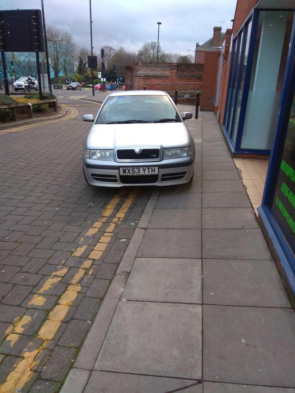 WX53 YTH displaying Selfish Parking