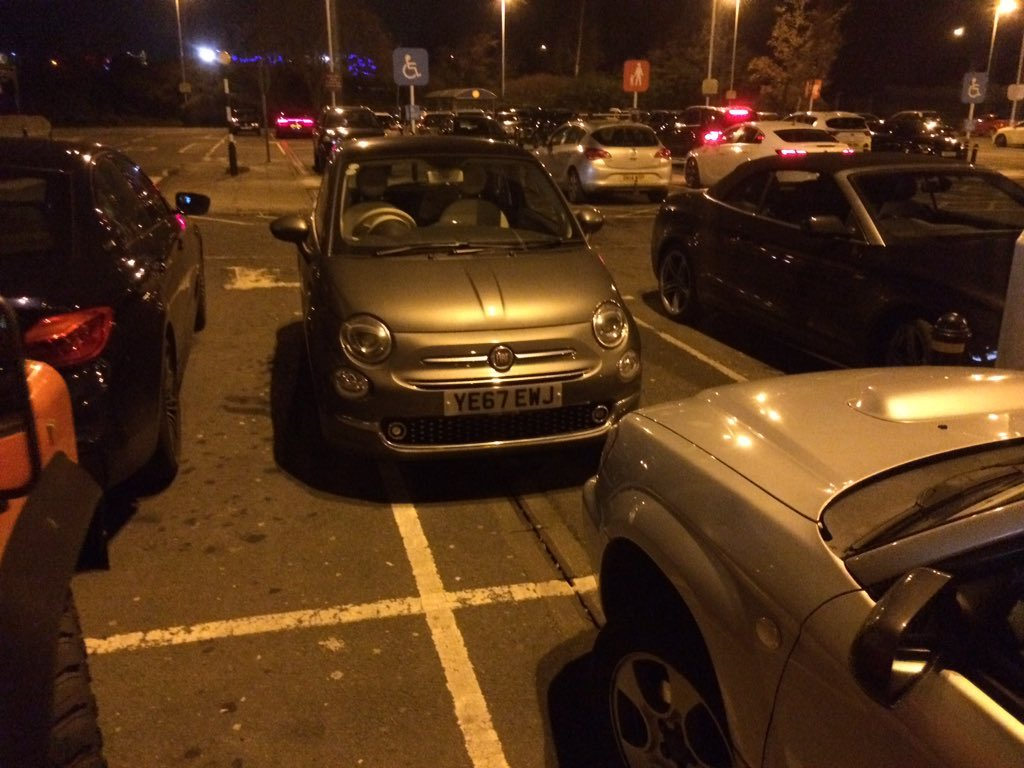 FE67 EWJ displaying Selfish Parking