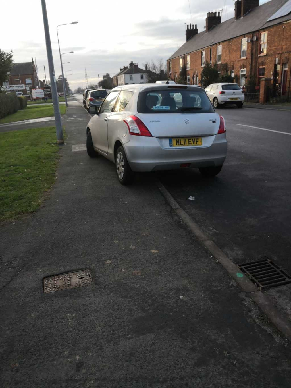 NL11 EVF displaying Selfish Parking