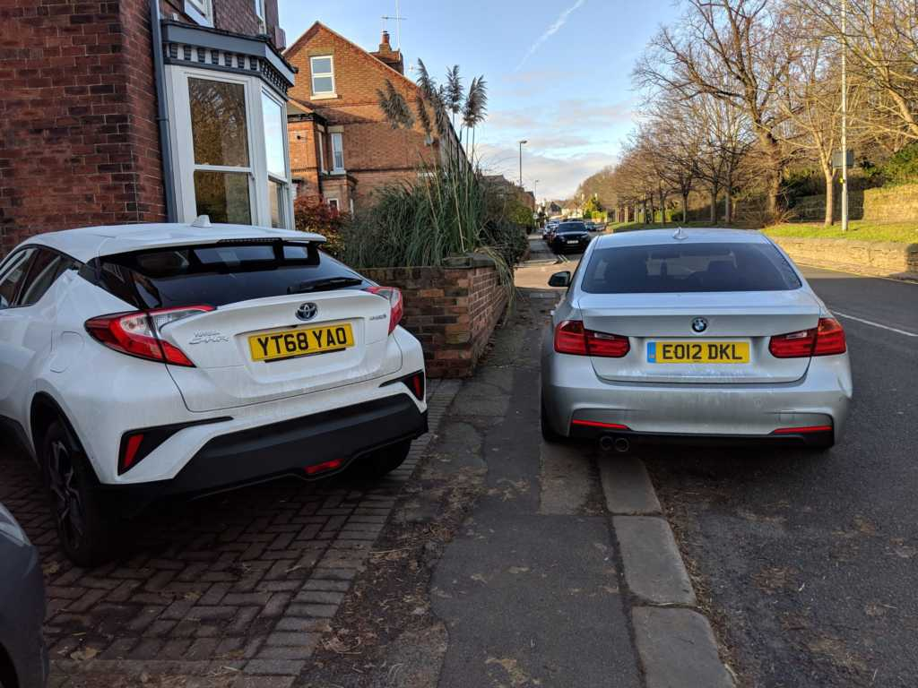 EO12 DKL displaying Inconsiderate Parking