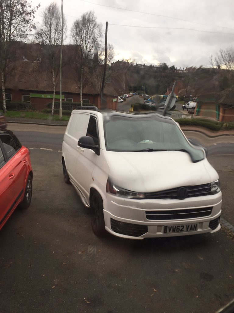 VW62 VAN displaying Inconsiderate Parking