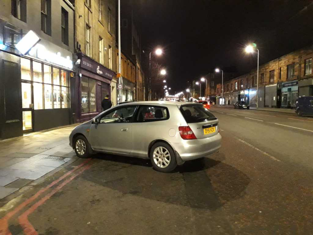T 20 MIN displaying Inconsiderate Parking