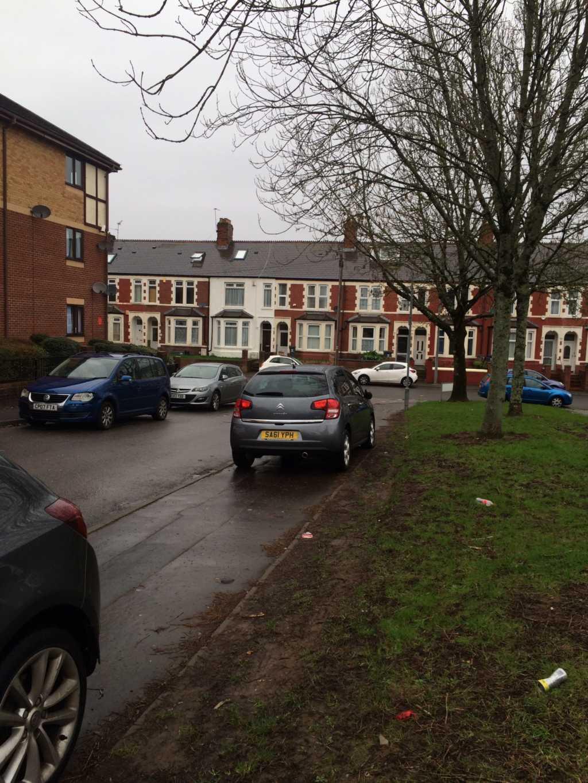 SA61 YPH displaying Selfish Parking