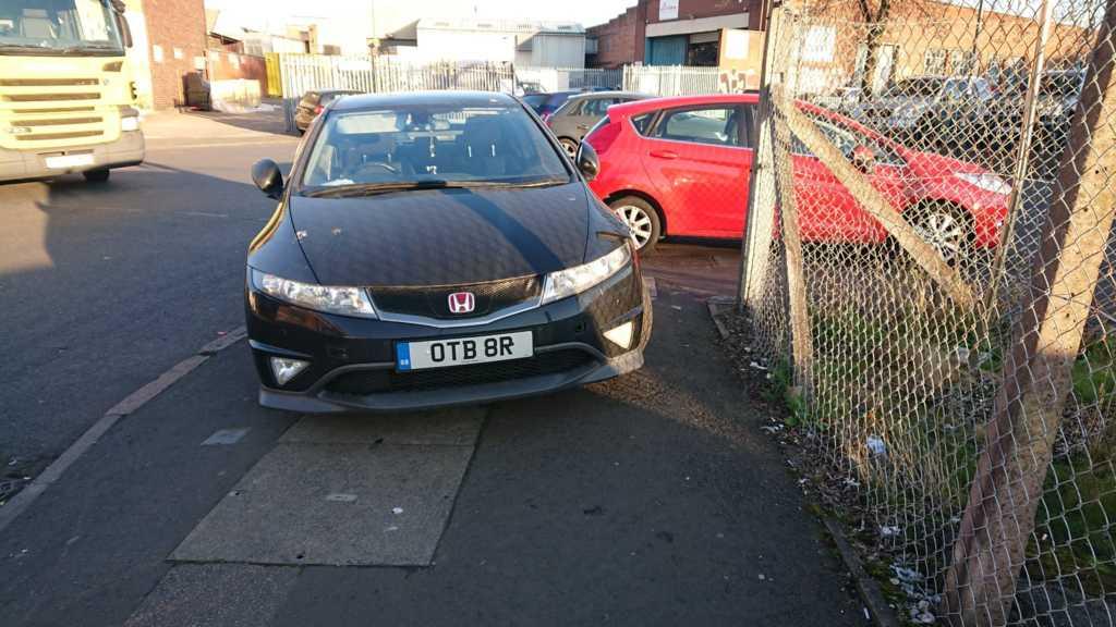 OTB 8R displaying crap parking
