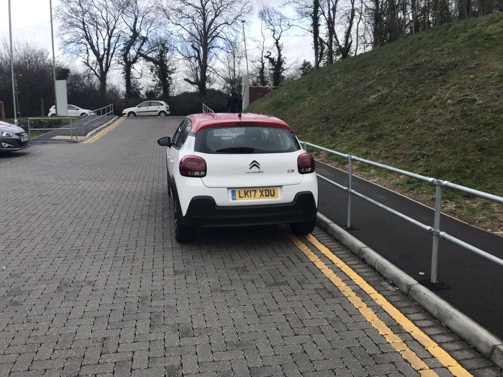 LK17 XDU displaying crap parking