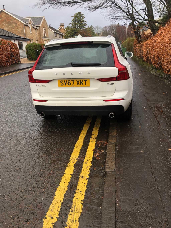 SV67 XKT displaying Selfish Parking