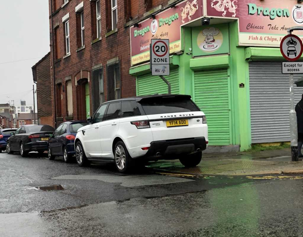 YF14 ADD displaying Inconsiderate Parking