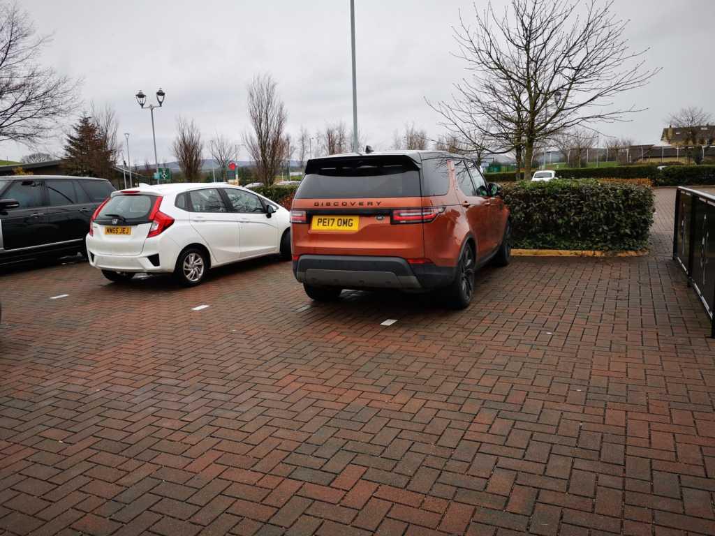 PE17 OMG displaying Inconsiderate Parking