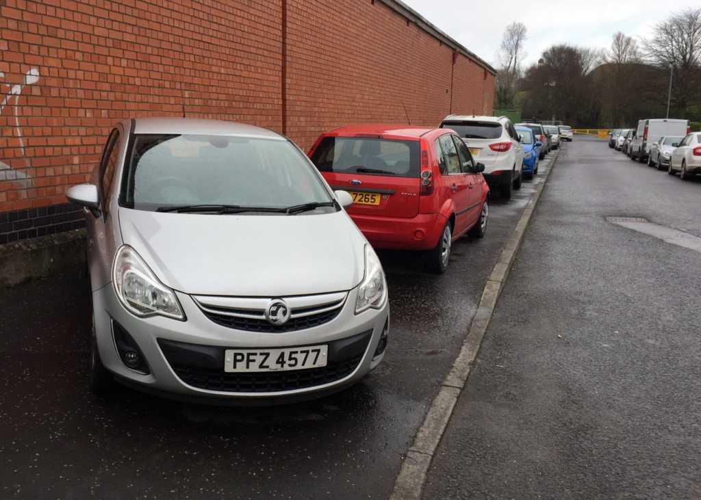 PFZ 4577 displaying Selfish Parking