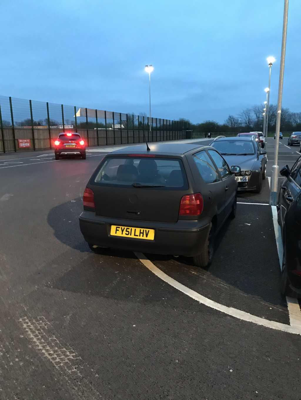 FY51 LHV displaying Selfish Parking