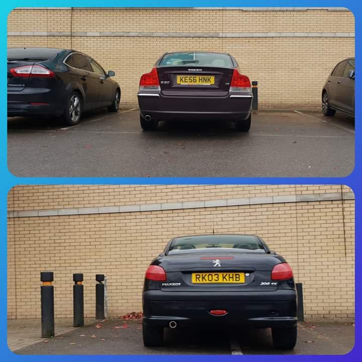 KE56 HNK & RK03 KHB displaying crap parking