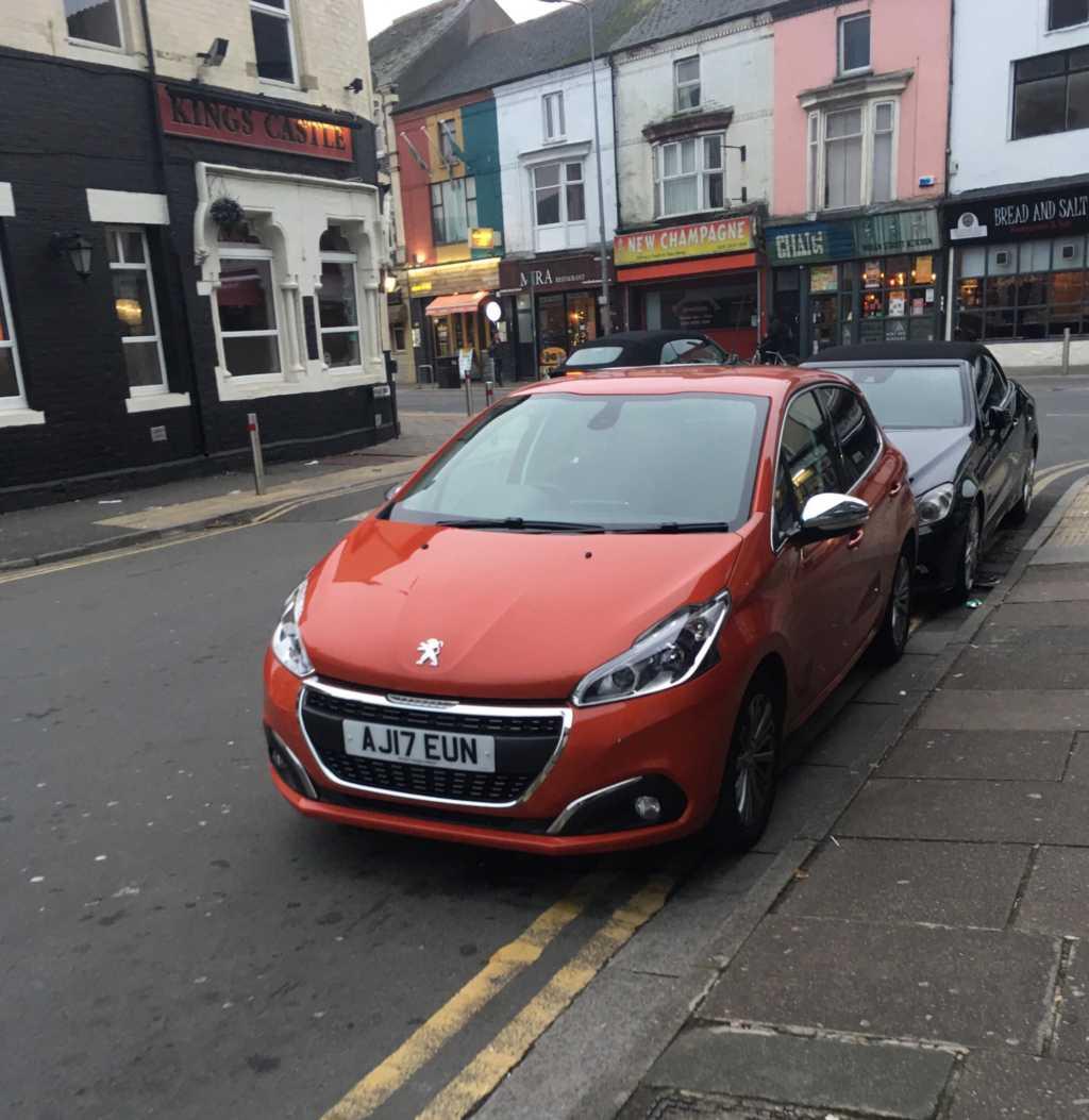 AJ17 EUN displaying Inconsiderate Parking
