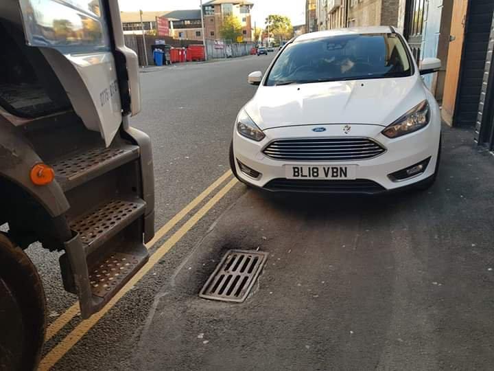 BL18 VBN displaying Selfish Parking