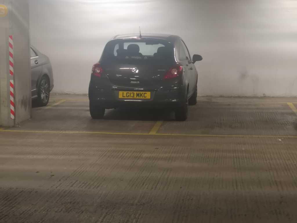 LG13 MKC displaying Selfish Parking