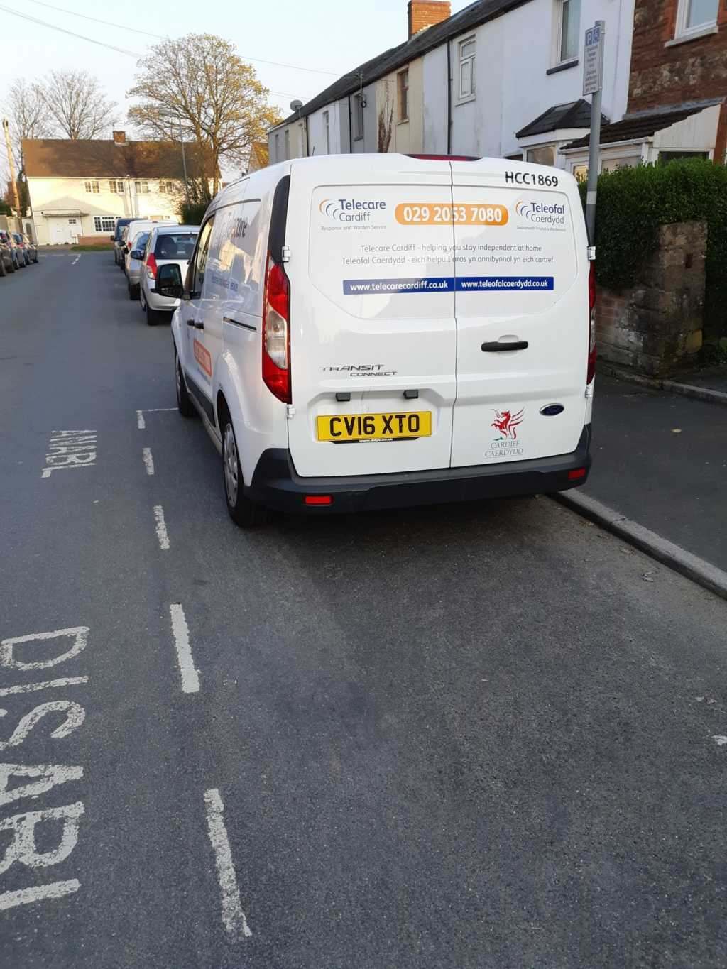 CV16 XTO displaying Inconsiderate Parking