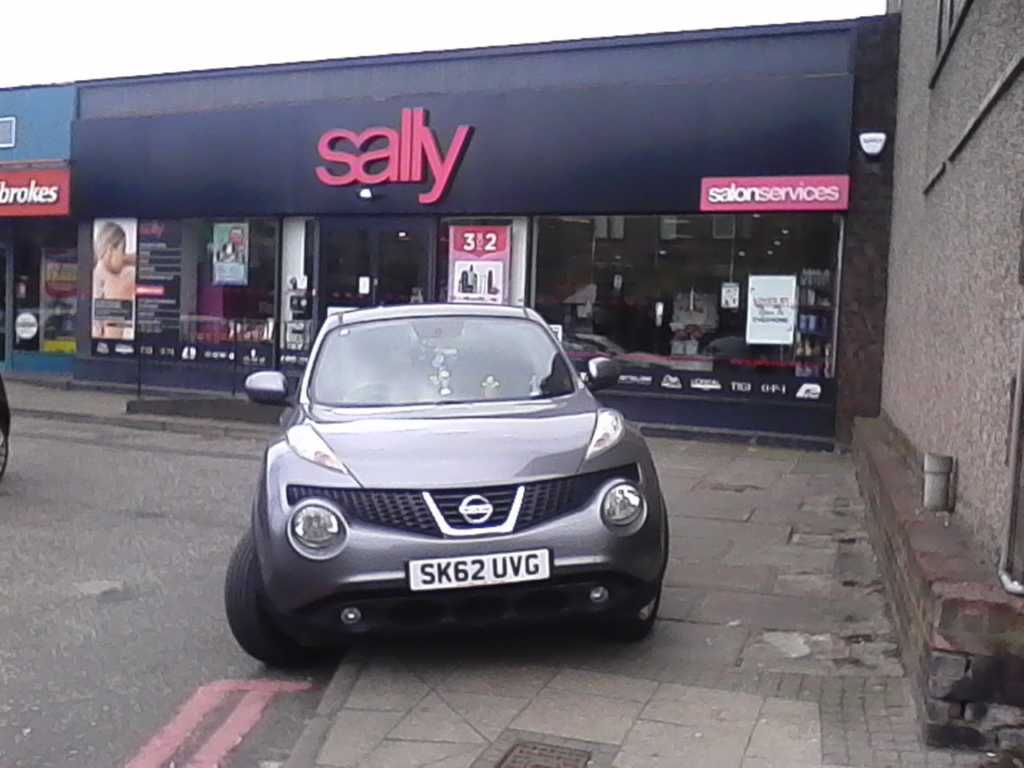 SK62 UVG displaying Selfish Parking